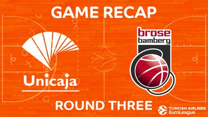 EuroLeague 2017-18 Highlights Regular Season Round 3 video: Unicaja 76-80 Bamberg
