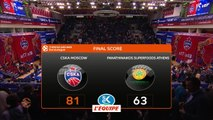 Basket - Euroligue (H) : Le CSKA Moscou se relance en dominant le Panathinaïkos
