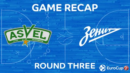 7Days EuroCup Highlights Regular Season, Round 3: ASVEL 88-85 Zenit