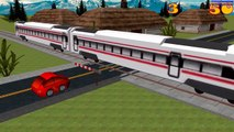 Cars and Trains Cartoon - Train videos for kids - Car Driving for Kids Local Train Game for baby