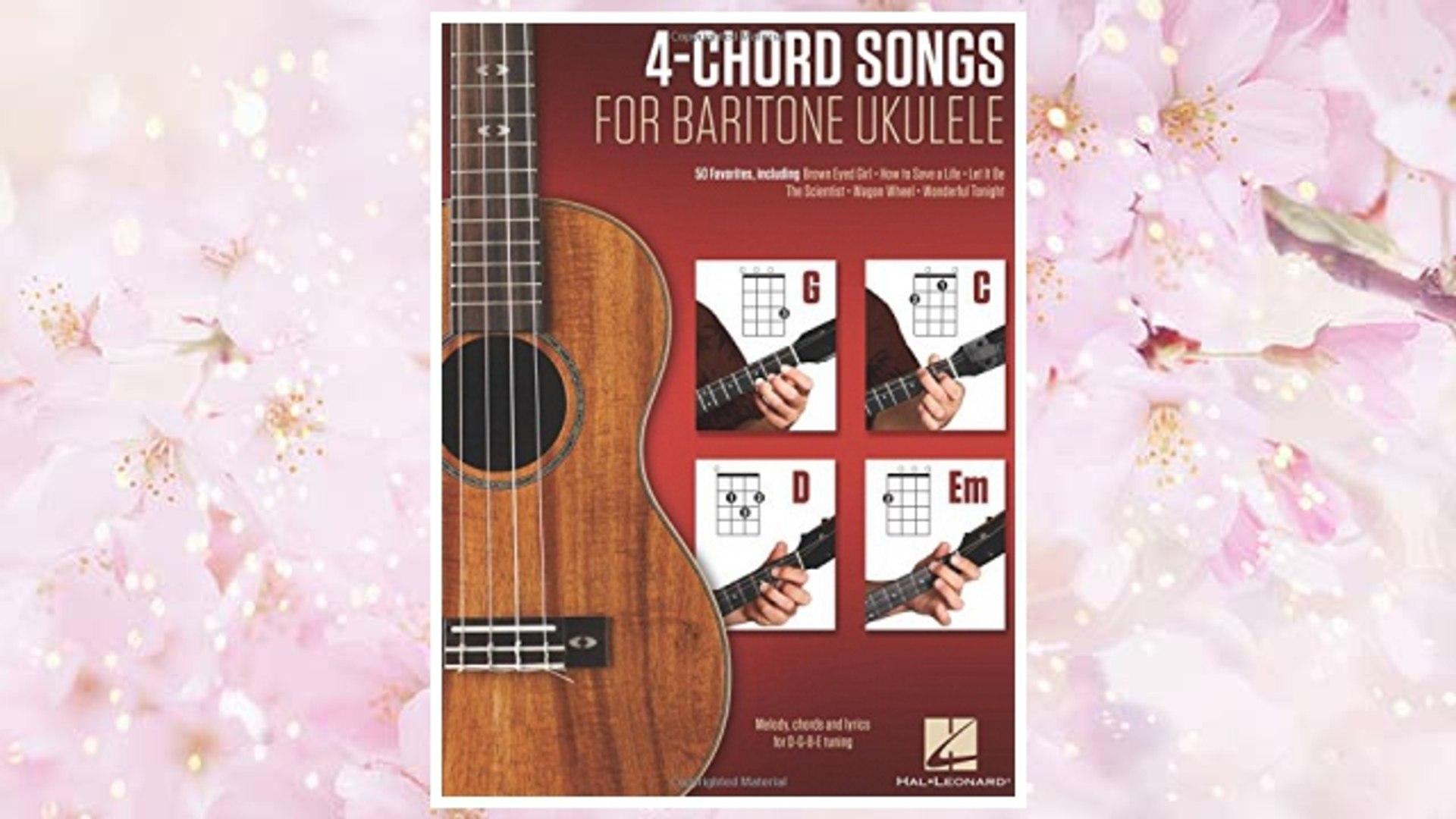 Download PDF 4-Chord Songs for Baritone Ukulele (G-C-D-Em): Melody, Chords and Lyrics for D-G-B-E Tu