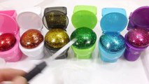 Slime Glue Glitter Colors Water Balloons DIY Learn Colors Slime Clay Toys