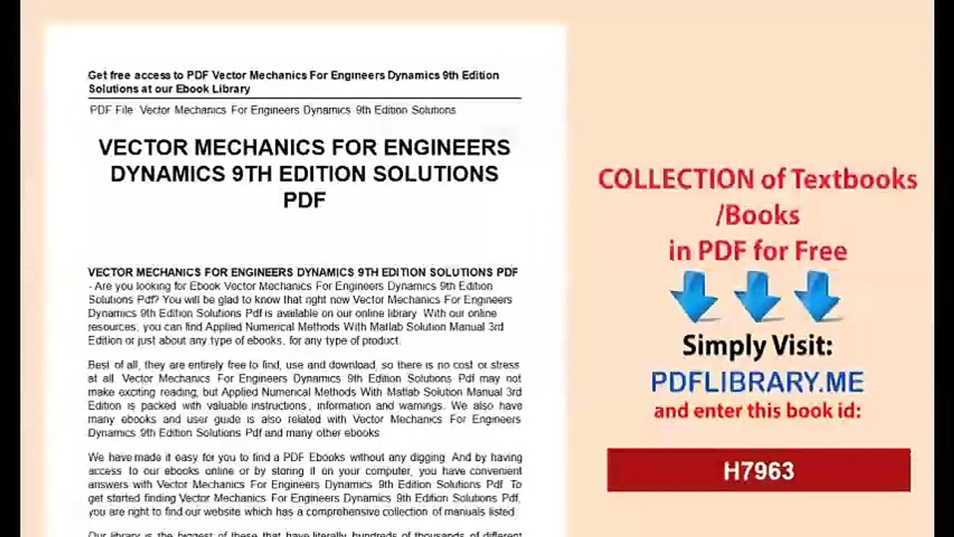 Vector Mechanics For Engineers Dynamics 9th Edition Solutions