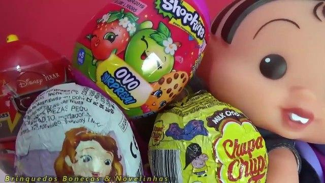 Turma da Mônica Toy Surpresas no Brinquedo Meu Carrinho Frozen Anna Peppa Pig Em Português