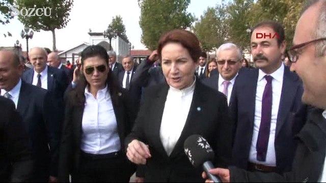 Meral Akşener'den Hacı Bayram Veli Türbesine ziyaret