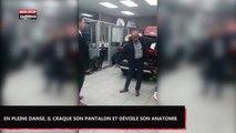 En pleine danse, il déchire son pantalon et dévoile son anatomie (Vidéo)