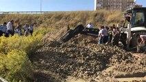 Toprak Kayması - Mahsur Kalan İşçi Kurtarıldı