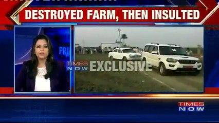 U.P Minister Jai Kumar Singh & His Associates Destroy A Farm By Parking Their Vehicles In A Field