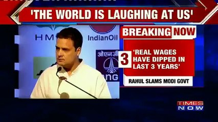 Rahul Gandhi Says -Government Disrespects Small And Medium Businesses