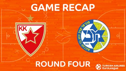 EuroLeague 2017-18 Highlights Regular Season Round 4 video: Crvena Zvezda 87-84 Maccabi