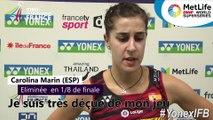 Yonex IFB : Interview de Carolina Marin, éliminée en huitièmes de finale