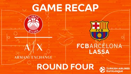EuroLeague 2017-18 Highlights Regular Season Round 4 video: AX Milan 78-74 Barcelona
