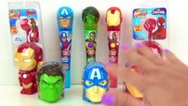 Marvel AVENGERS Candy Dispenser, Lollipop Light Spinner, Spider Iron Man Superhero IRL Toy Surprises