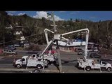 Drone Footage Captures Crew Working on Electric Grid in Puerto Rico