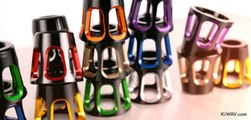 Motorcycle Bar Ends 8 Colors Tower Style with Black & Silver Base | KiWAV