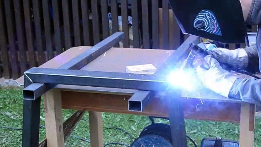 Voll Den Krassen Designer Tisch Selber Bauen Holz Und Metall