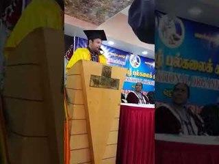 Madhubalakrishnan in Doctorate  function