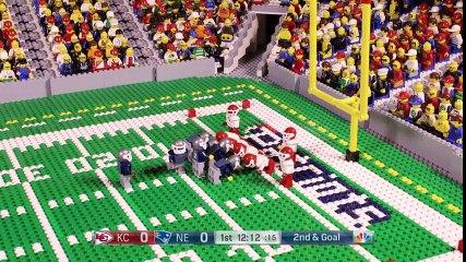 NFL Kansas City Chiefs and New England Patriots (Week 1, 2017) Lego Animation Highlights