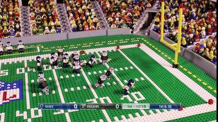 NFL Los Angeles Rams and Oakland Raiders (Preseason Week 2, 2017) Lego Animation Highlights