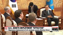 U.S. Defense Secretary James Mattis visits South Korean President Moon at Blue House