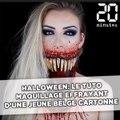 Halloween: Le tuto maquillage terrifiant d'une jeune Belge cartonne sur YouTube
