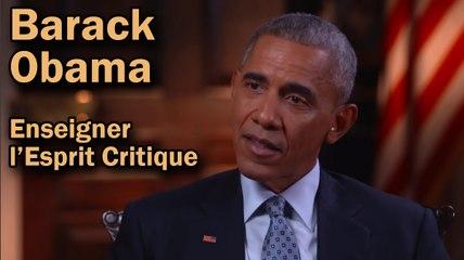 Barack Obama - Enseigner l'Esprit Critique