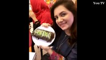 Faysal Qureshi Celebrating Birthday With His Wife And Daughter