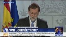 Rajoy détaille les destitutions après la déclaration d'indépendance de la Catalogne