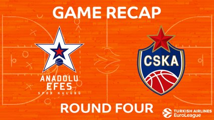 EuroLeague 2017-18 Highlights Regular Season Round 4 video: Anadolu Efes 80-98 CSKA