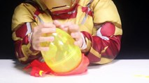 NEW Iron Man Play-Doh Surprise Eggs Marvel Avengers Hulkbuster War Machine Iron Patriot Kids Toys-ZkqCmKhPBIM