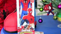 Spiderman OPENS Christmas Presents Kids opening  presents morning Santa in real life 2015 Toys kids-p1hkkGUXGFg