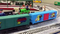 Spencer and Thomas the Tank Engine Meet the Sunday Funnies HO Scale Train in Sodor