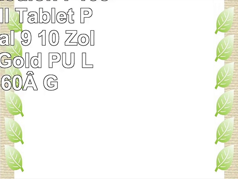 Emartbuy Medion P10506 101 Zoll Tablet PC Universal  9  10 Zoll  Metallic Gold PU