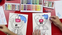 How To Color A Clown With Oil Pastels