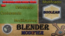Blender Tutorial Modelagem 3D - Blender Modifier - Modificador Boolean