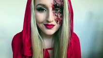 Little DEAD Riding Hood Tutorial ♡ Little Red Riding Hood Halloween Tutorial (Original idea)