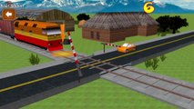 Game Cartoon Cars & Trains for KIDS | Car Driving for Kids Local Train - Train Videos for Children