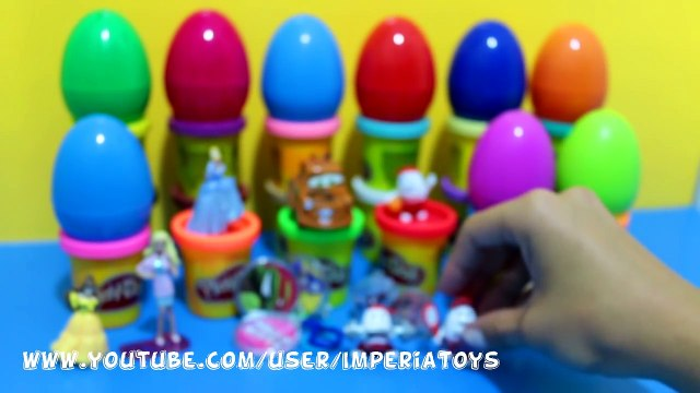 Many Surprise Eggs Princess FROZEN Disney Cars Hello Kitty Masha i Medved Minnie Barbie Play-Doh