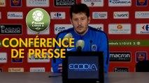 Conférence de presse Gazélec FC Ajaccio - Paris FC (0-0) : Albert CARTIER (GFCA) - Fabien MERCADAL (PFC) - 2017/2018