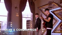 X Factor: Irish brothers Sean and Conor Price sing and rap