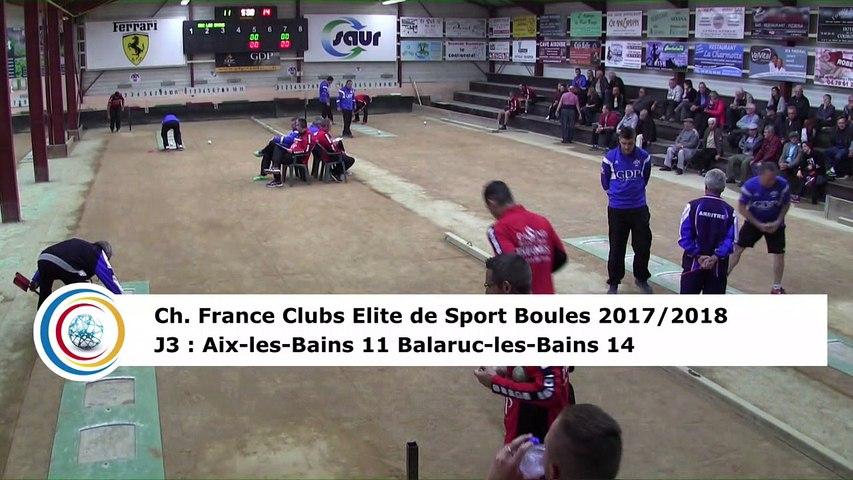 Troisième tour, tir progressif, Club Elite Masculin J3, Aix-les-Bains contre Balaruc-les-Bains, octobre 2017