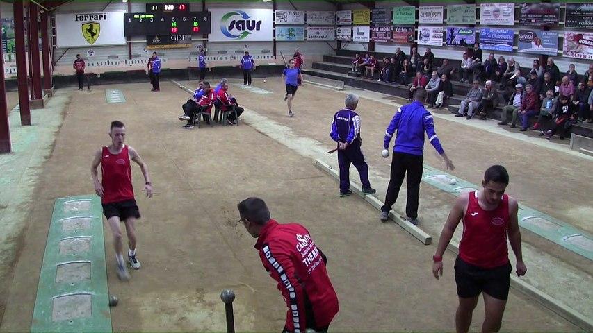 Troisième tour, tir rapide en double, Club Elite Masculin J3, Aix-les-Bains contre Balaruc-les-Bains, octobre 2017