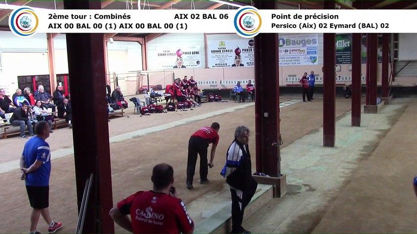 Second tour, point de précision, Club Elite Masculin J3, Aix-les-Bains contre Balaruc-les-Bains, octobre 2017
