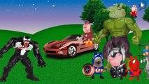 Peppa Pig vingadores Spider man Capitão America Hulk Thor homem de ferro VC Venom