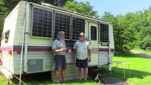 $4,000, Solar, Off-Grid, Tiny-Cabin on Wheels Part-1, Interview