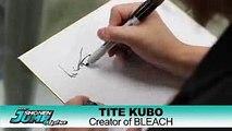 Tite Kubo Drawing Ichigo and Urahara [Shonen Jump Apha]