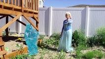 Frozen Elsa gets Bloody Nose gets new Dress! Spiderman & Disney Princesses Clothes Swap challenge