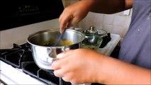 Sauce de feuilles de manioc aux arachides (kweem)