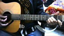 Tune Mere Jaana Kabhi Nahi Jaana - Emptiness - Complete Intro Tabs Guitar lesson chords beginners
