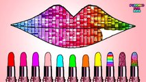 Learn Colors With Lipstick Princess Paint Colorful Lipstick Coloring Pages Games For Kids